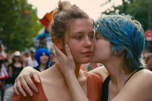 Девочка с синими волосами секс